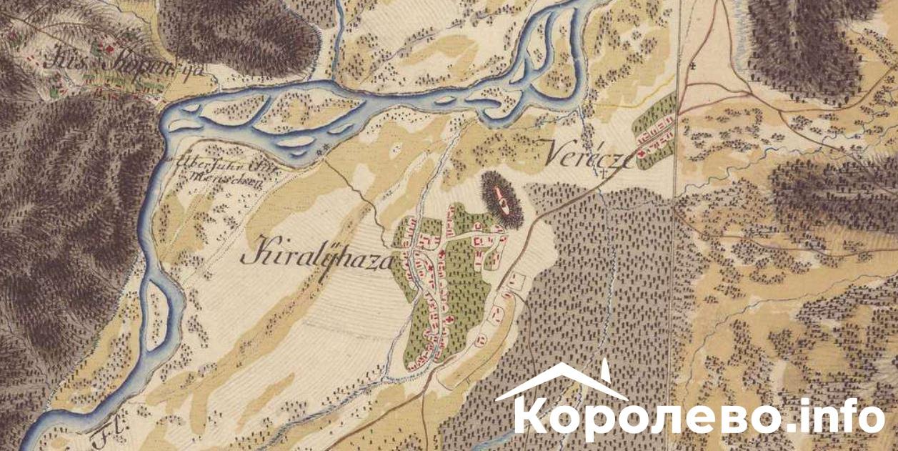 З яких вулиць починалося Королево? Карта 18 століття