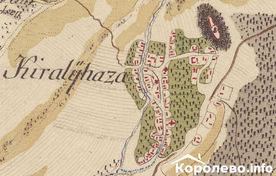 Карта Королева XVIII століття