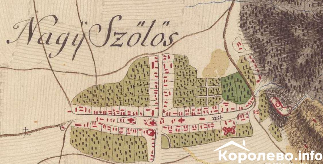 Карта Виноградова XVIII століття