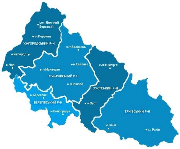 Королево планують включити до Берегівського району (проєкт)
