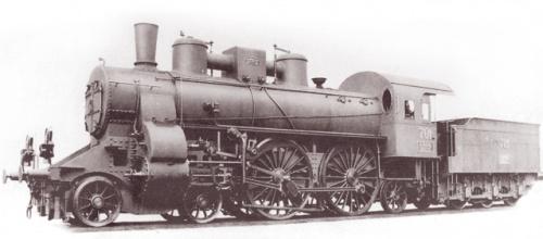 Перший паровоз МÁV, дозволена швидкість якого становила 100 км/год (1900 рік)