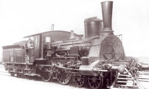 Локомотив MÁV 1874 року